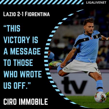 Ciro Immobile message