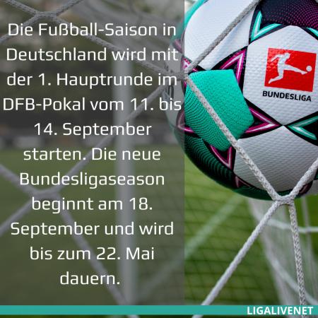 Beginn der neuen Bundesliga Saison
