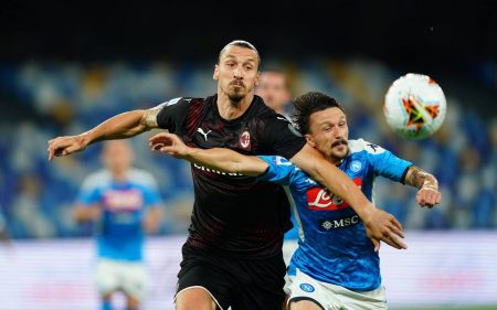 Napoli and AC Milan keep their Serie A position intact after a 2-2 draw. Milan played final few minutes with 10-men after Alexis Saelemaekers red card.
