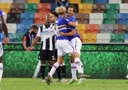 Two late goals from Federico Bonazzoli and Manolo Gabbiadini help Sampdoria to seal a come-back win against Udinese as blucerchiati climb 14th in the table.