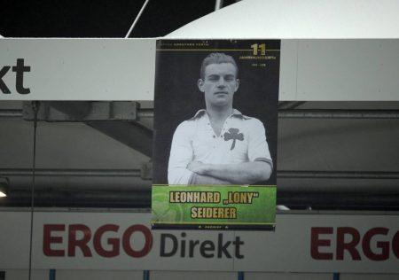 """Leonhard """"Lony"""" Seiderer ist bis heute im Stadion am Fürther Ronhof allgegenwärtig."""