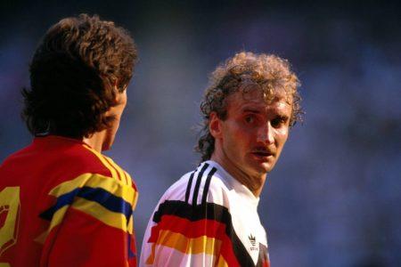 Rudi Völler und Andres Escobar bei der WM 1994