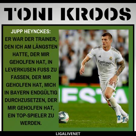 Toni Kroos über Jupp Heynckes